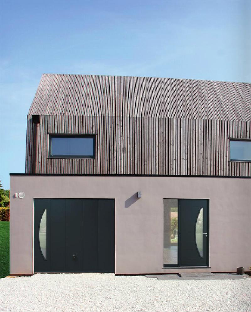 Maison contemporaine avec portes Bel'M
