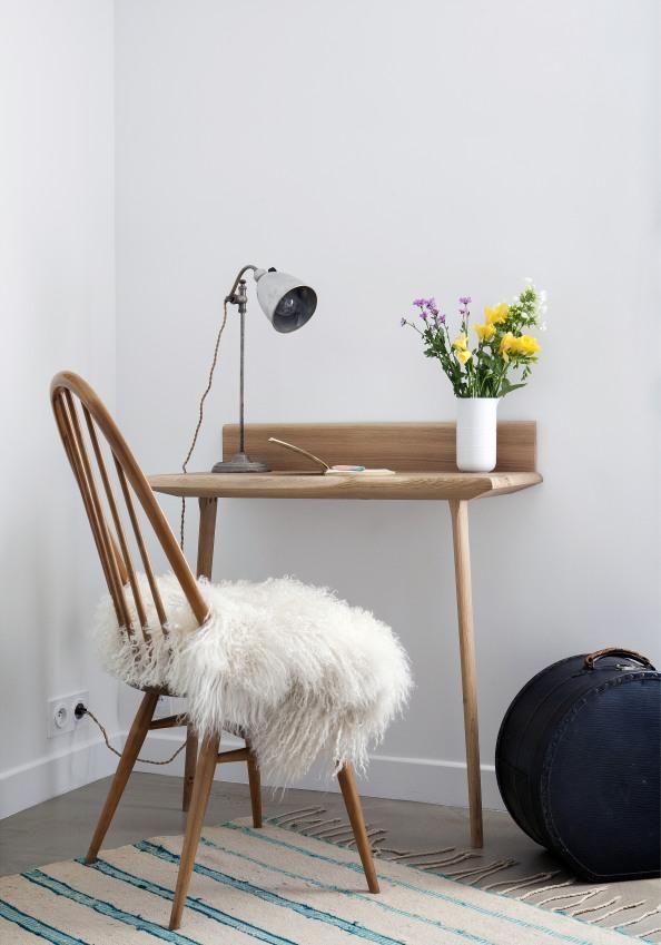 Bureau style scandinave en bois