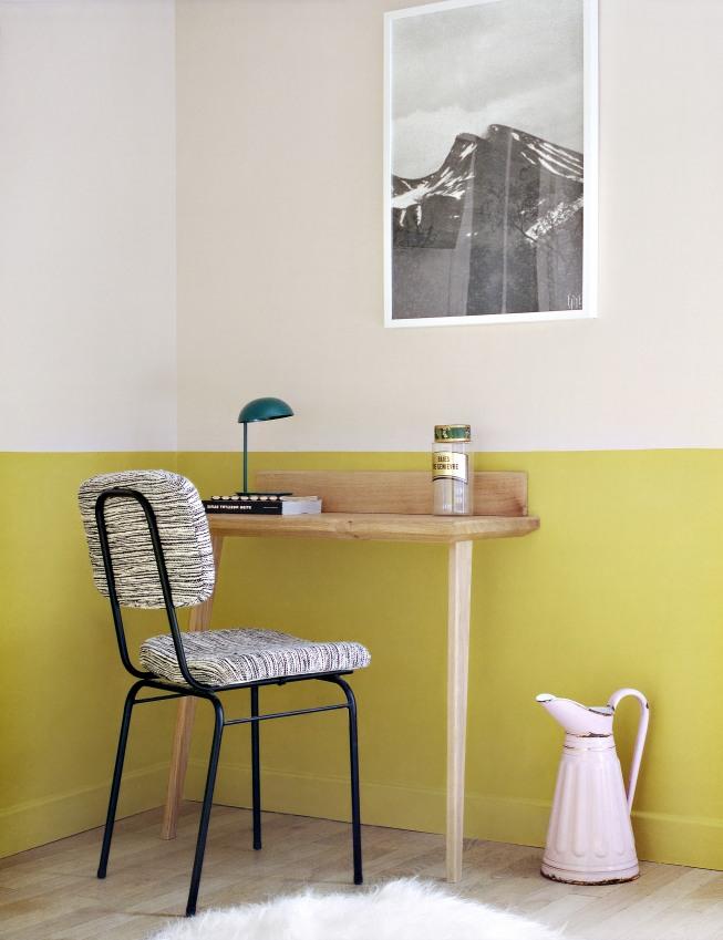Peintre le soubassement des murs en couleur