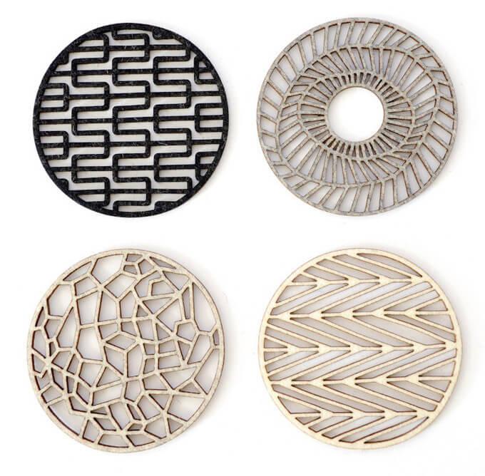 Dessous de plat en métal design