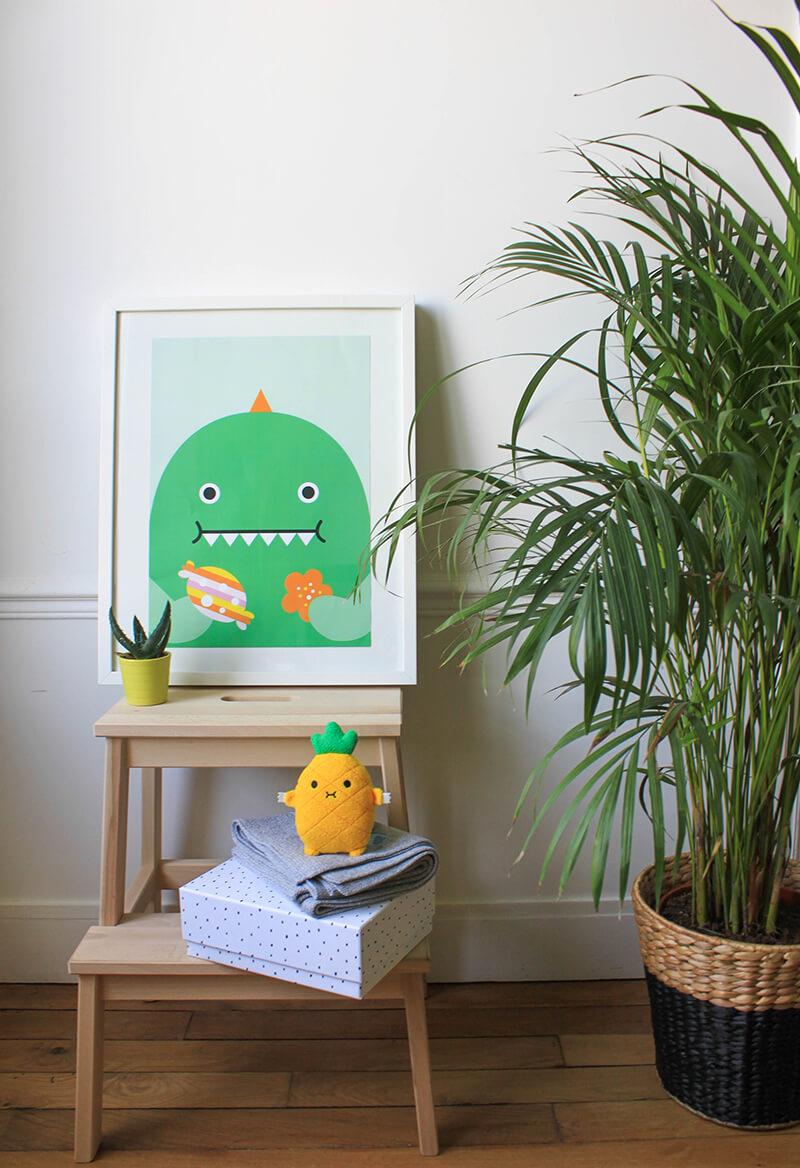 Affiche et peluche rigolotes pour enfant