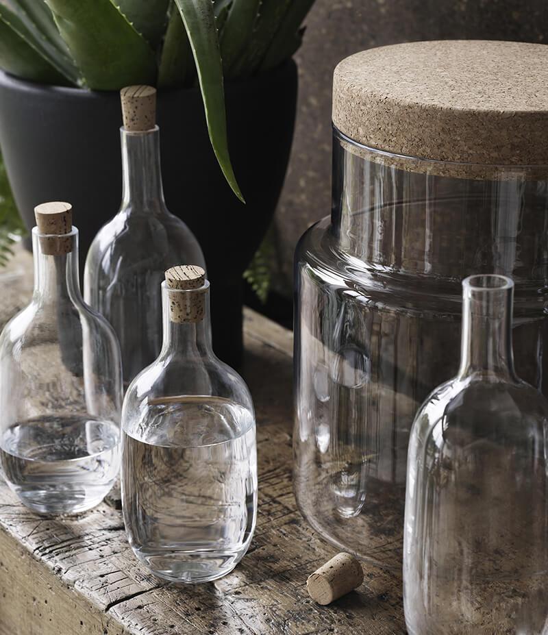 Bouteille en verre pour la cuisine