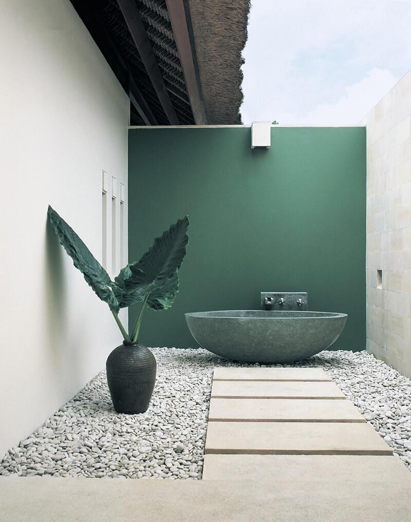Baignoire en pierre contemporaine