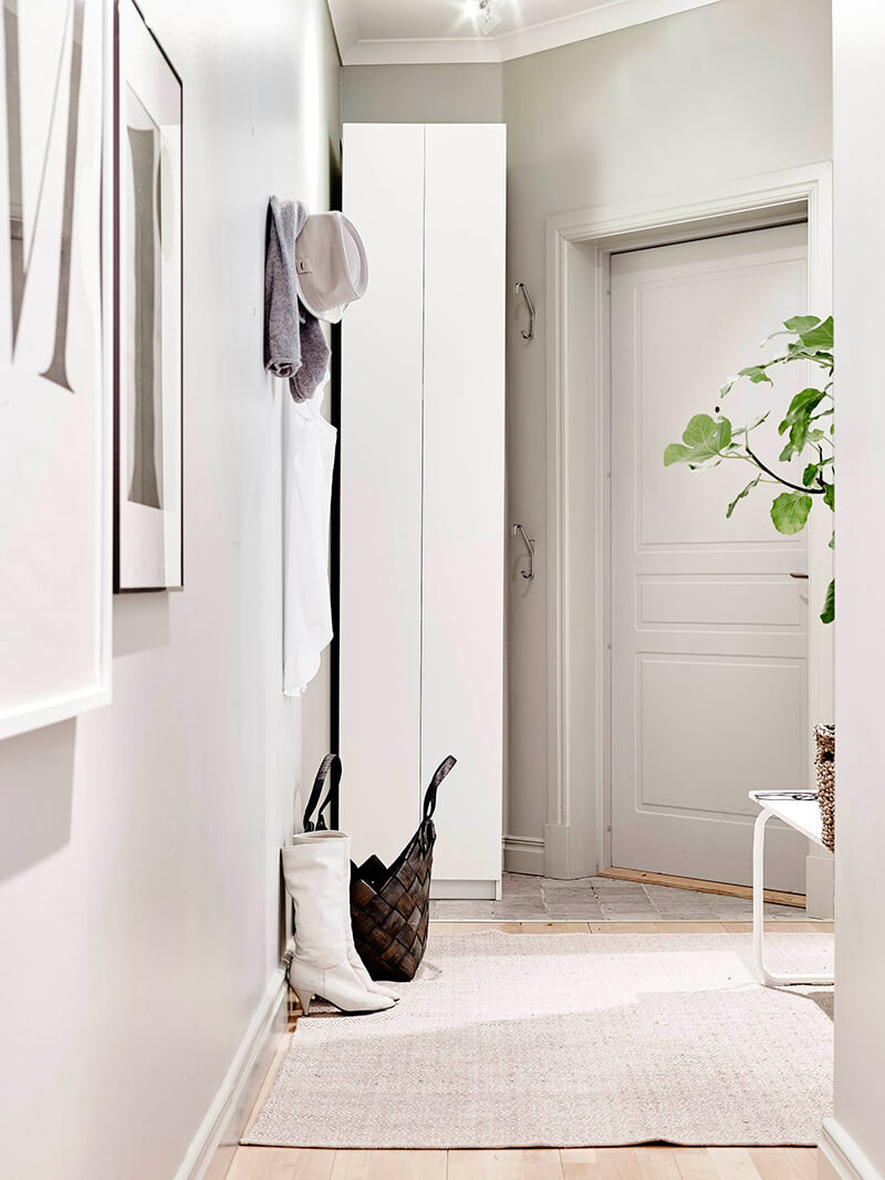 Aménager un long couloir avec entrée