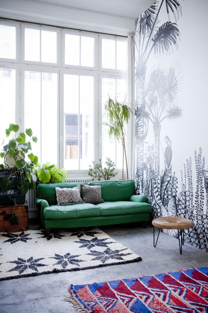 Papier peint motif jungle