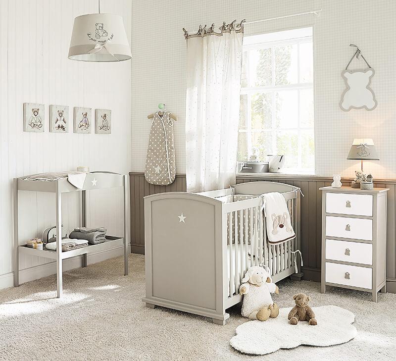 Chambre pour bébé couleurs naturelles