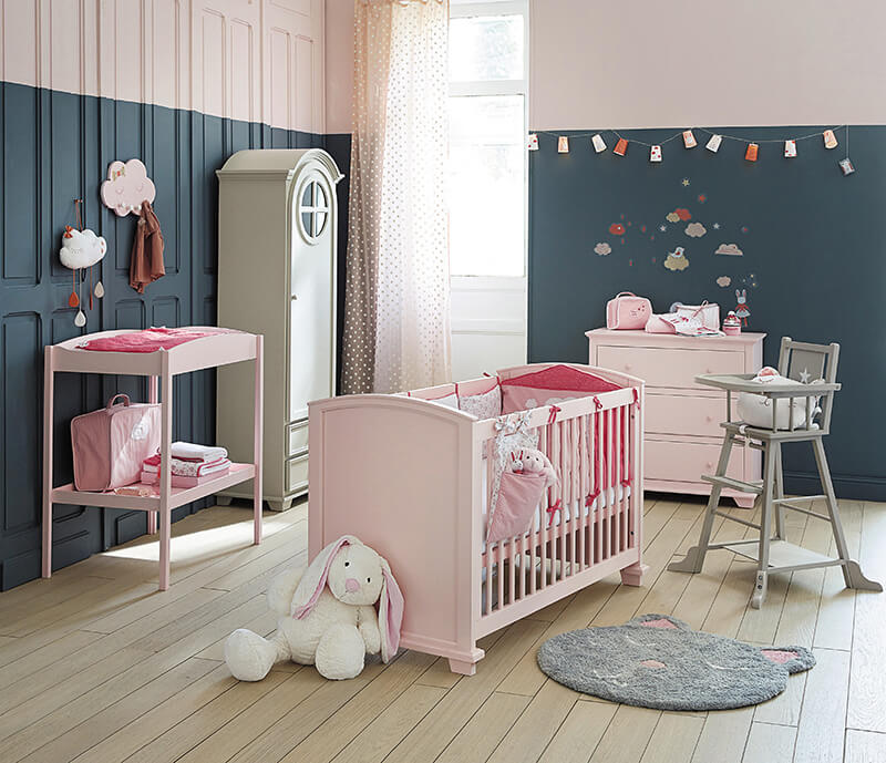 D co chambre bebe fille maison du monde for Decoration porte chambre fille