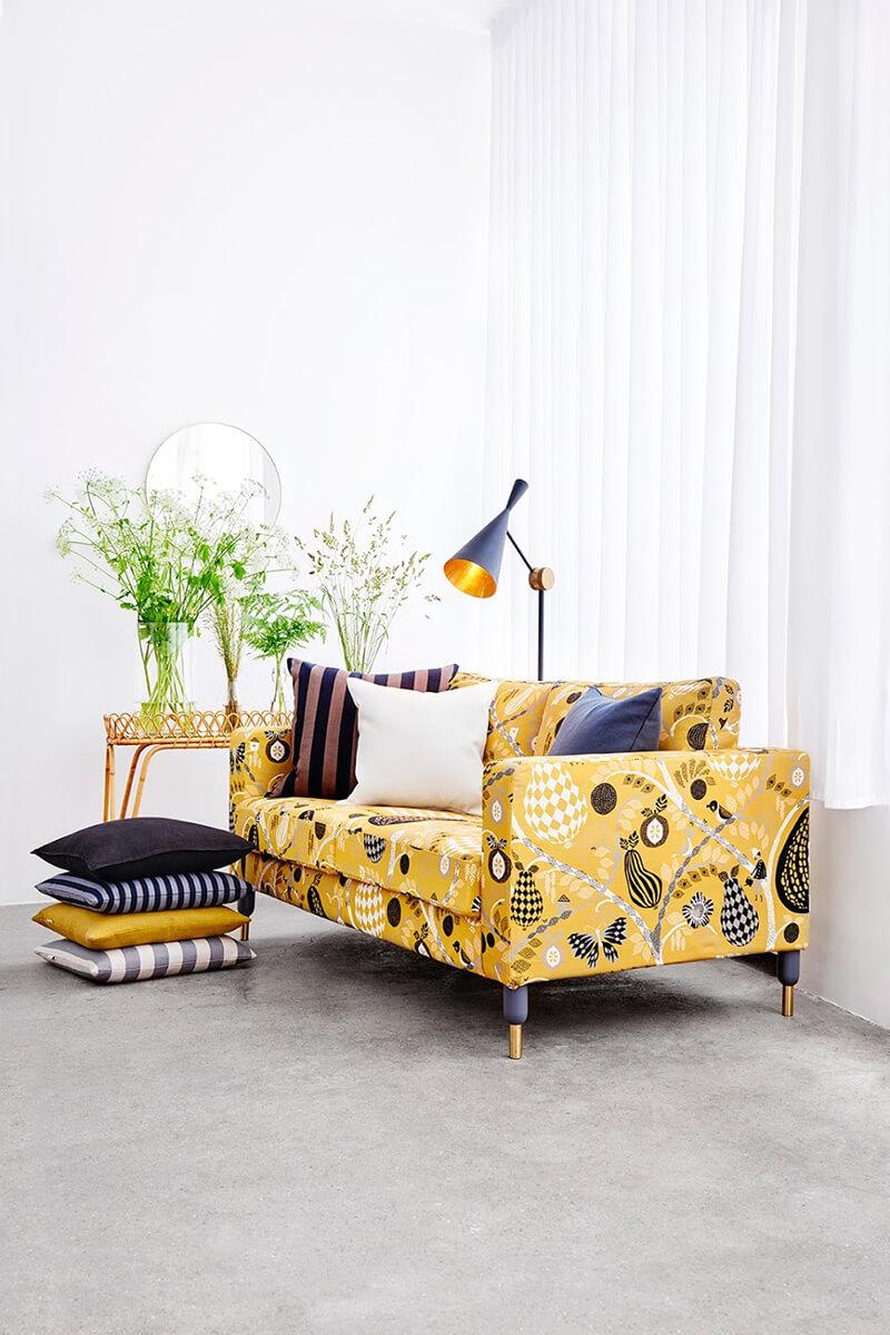 Idée pour relooker son canapé Ikea avec Bemz