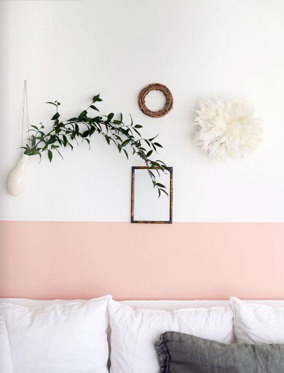 Mur rose pâle