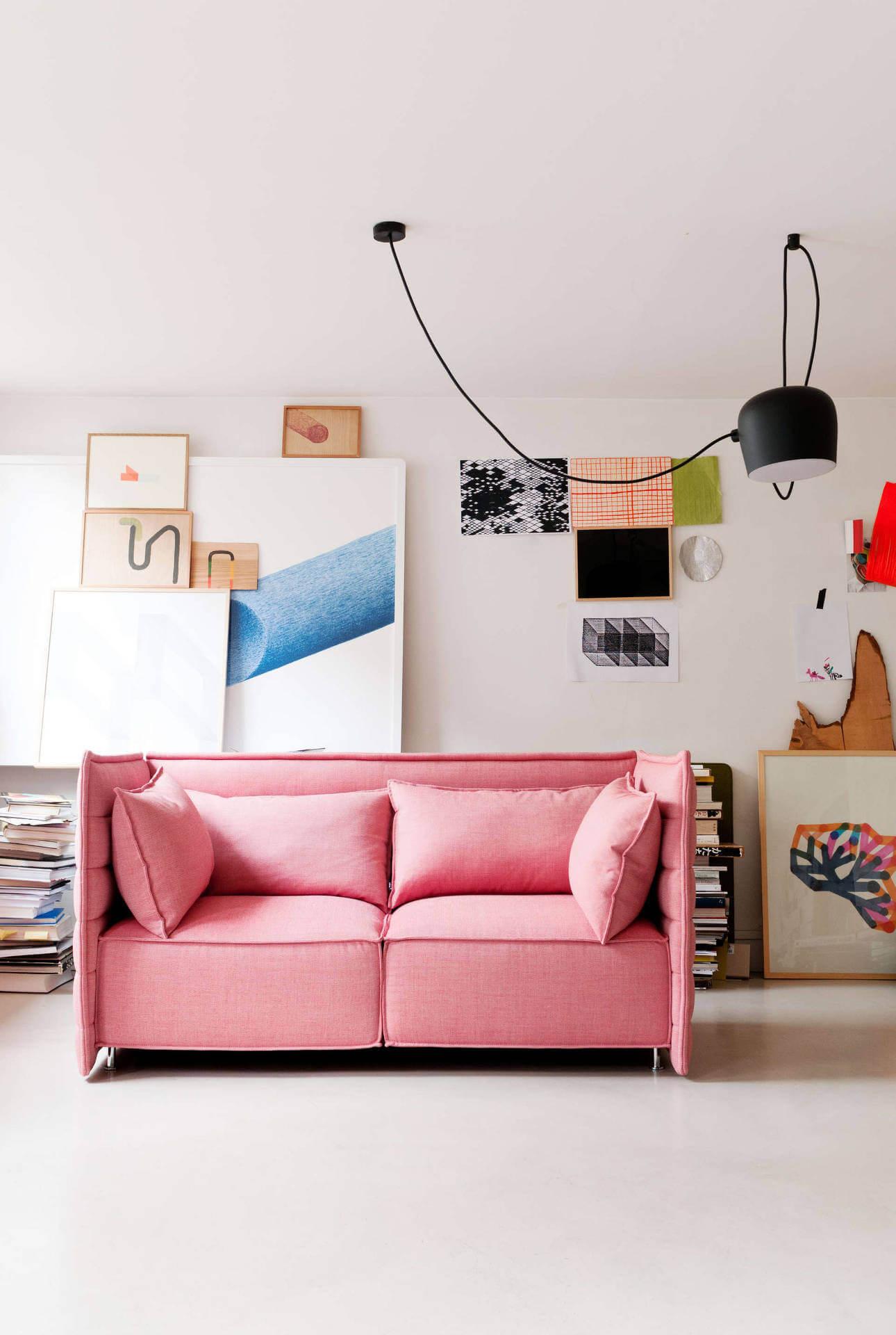Oser un canapé rose dans son salon