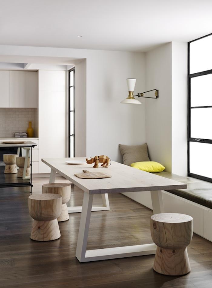 Salle à manger contemporaine en bois