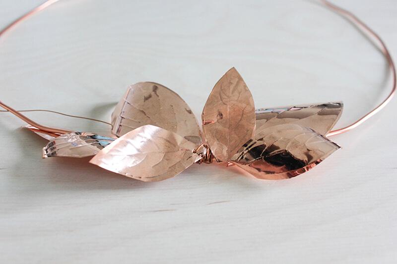 Objet décoration métal cuivré