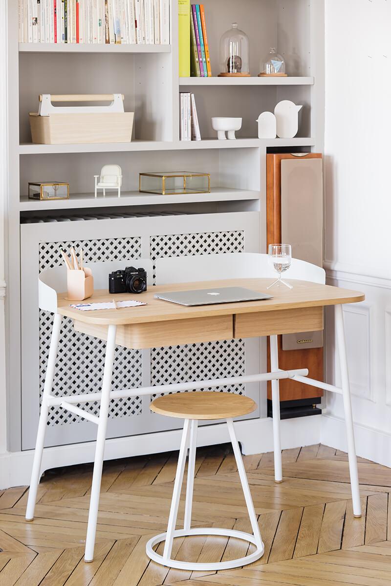 Bureau contemporain design en bois style scandinave