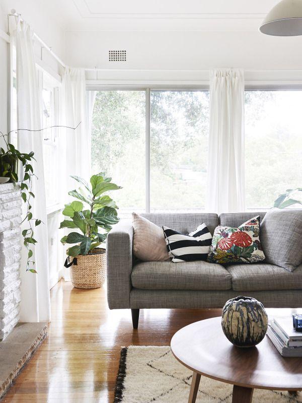Canapé gris vintage décoration