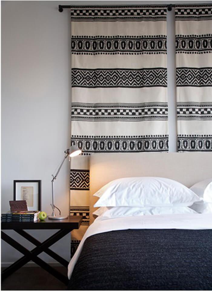 DIY : une tête de lit en tissu