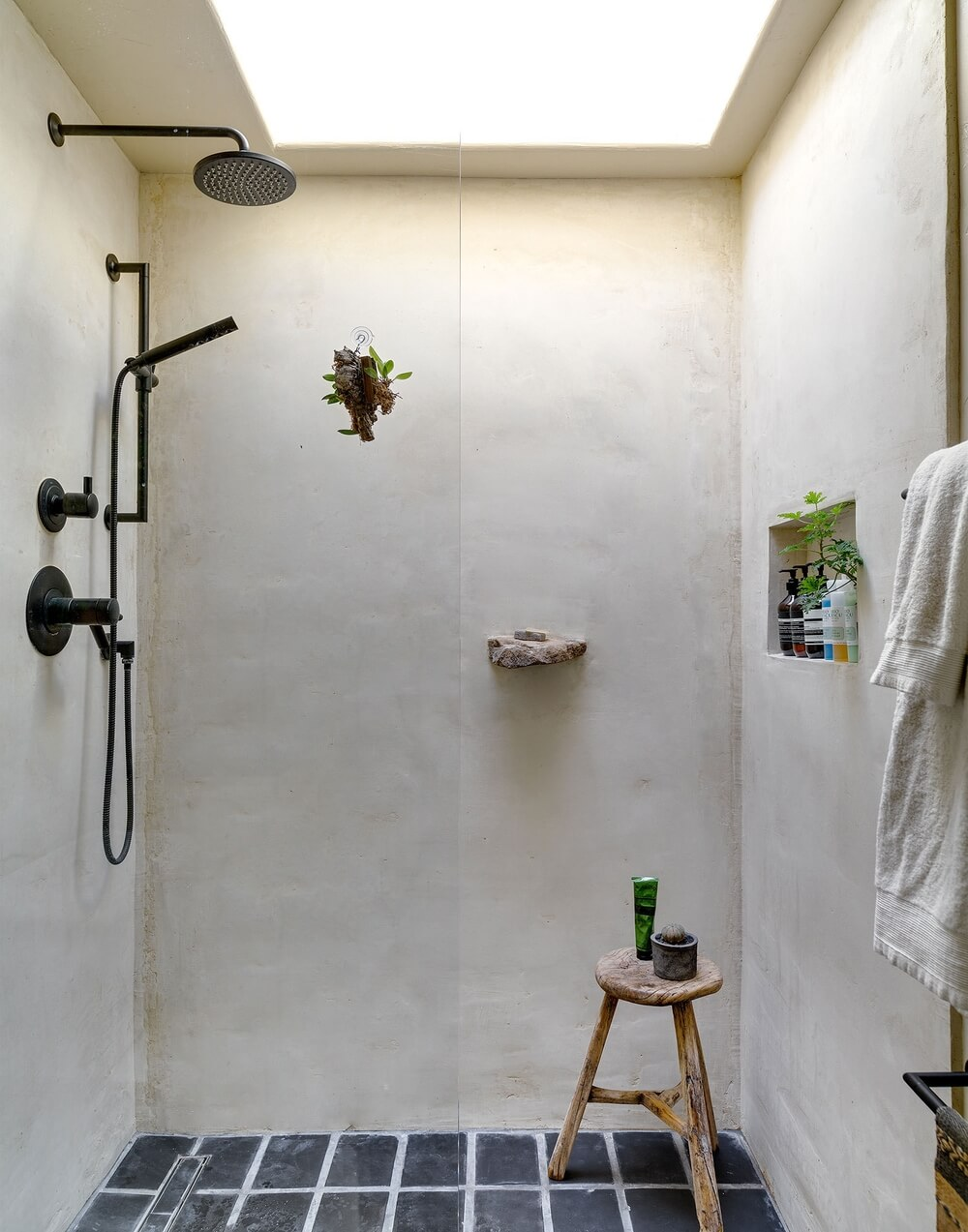 Inspiration une douche l 39 italienne frenchy fancy for Salle de bain moderne houzz