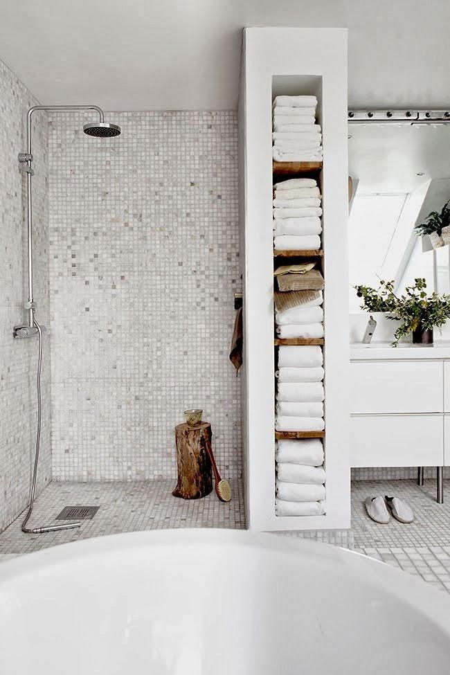 Inspiration : une douche à l'italienne