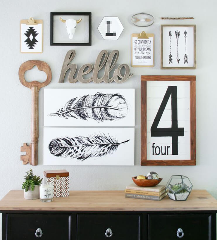 Wall Art Placement Ideas : Composition murale frenchy fancy