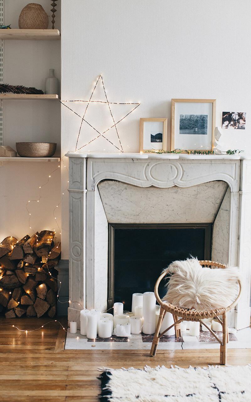 Décorer une cheminée en marbre
