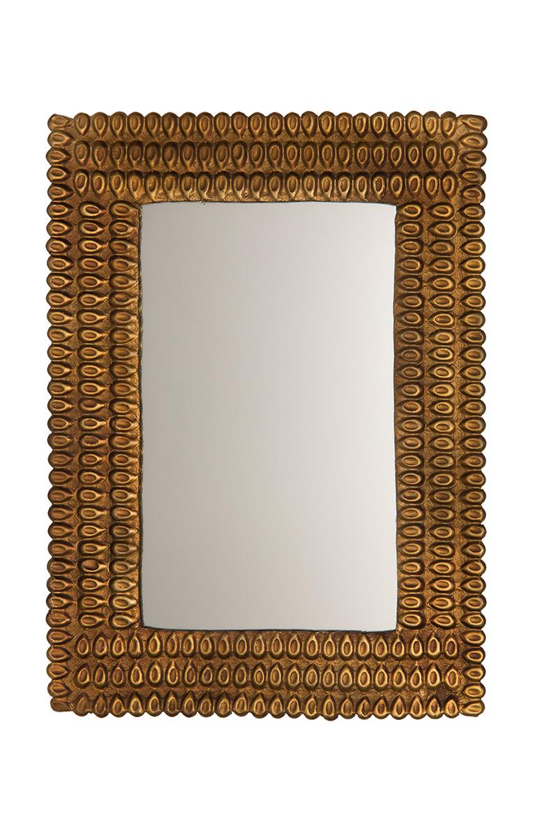 Miroir doré look rétro vintage