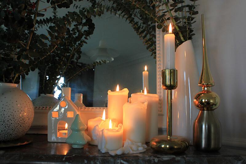 Ambiance tamisée avec des bougies