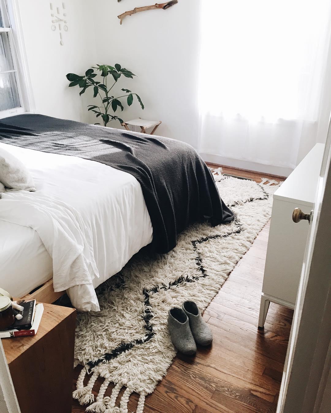 Tapis berbère dans une chambre