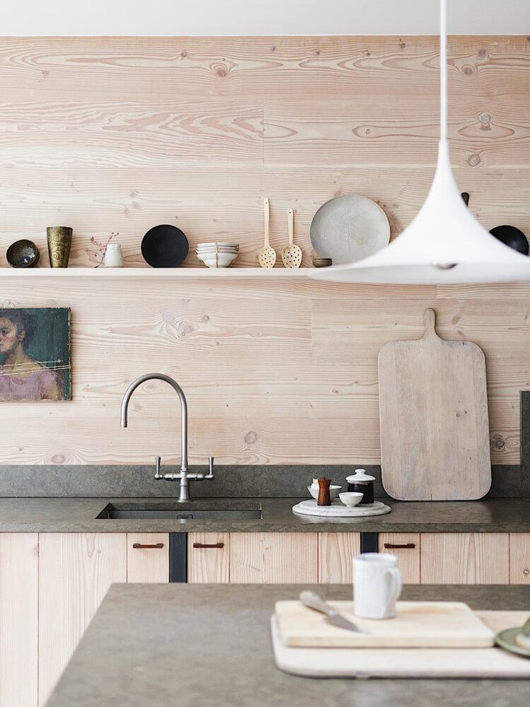 Cuisine en bois style nordique