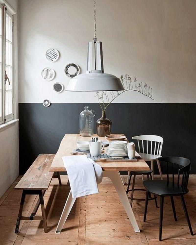 Tendance peindre ses murs moiti frenchy fancy for Peinture salle a manger tendance