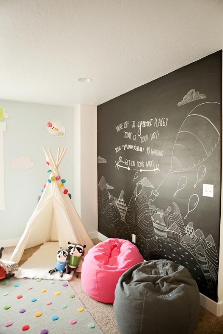 Mur ardoise chambre d'enfant