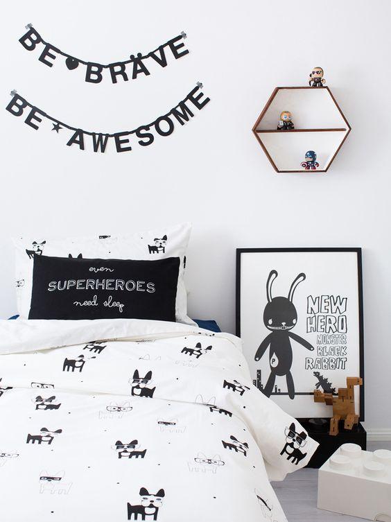 10 chambres d'enfants au look black & white