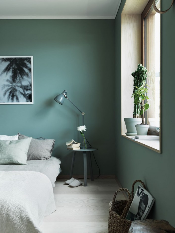 Emejing Chambre Scandinave Vert Photos - Design Trends 2017 ...