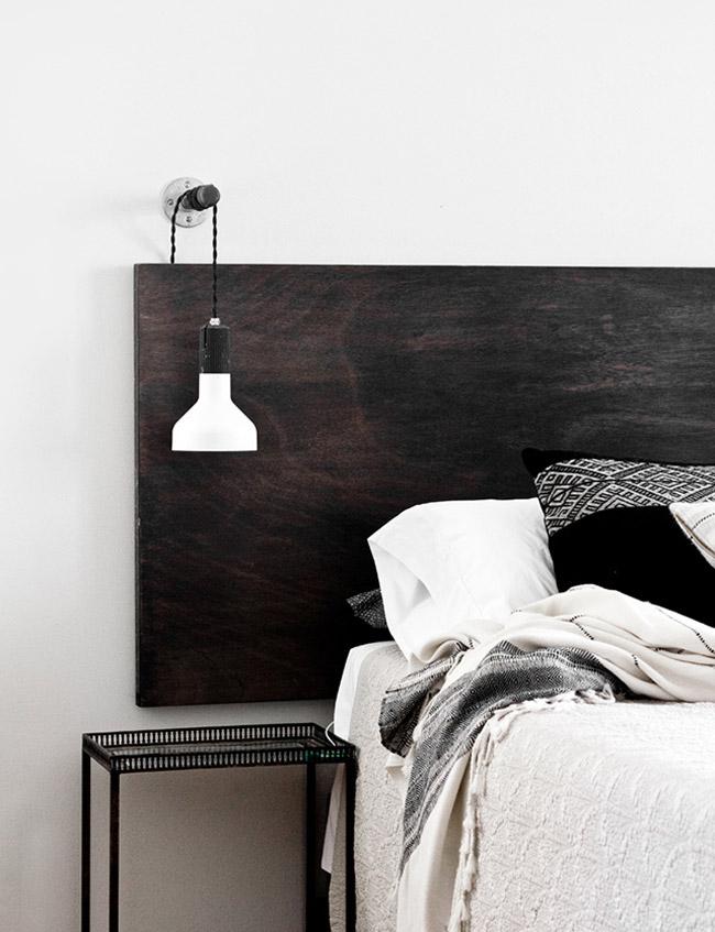 Tête de lit Déco chambre noir