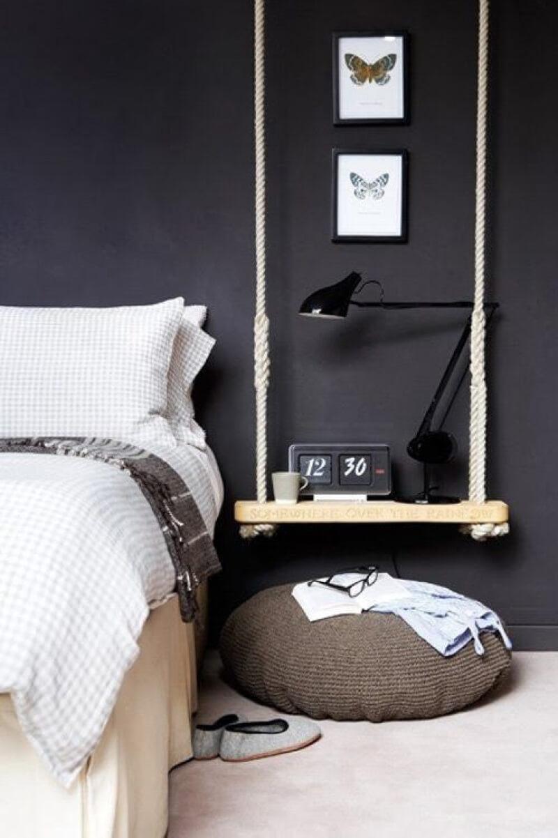 Mur noir décoration chambre