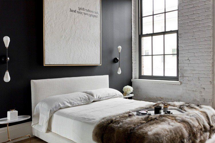 10 chambres au look noir frenchy fancy. Black Bedroom Furniture Sets. Home Design Ideas