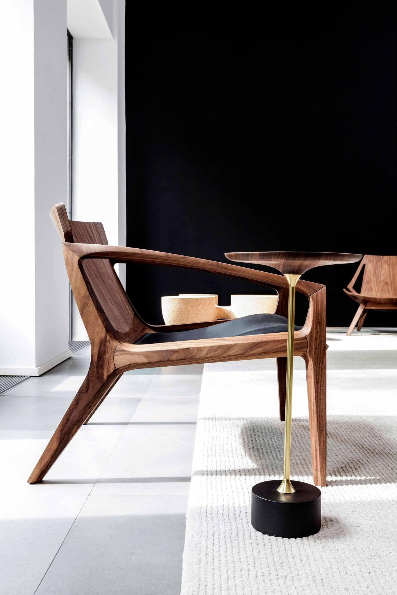Fauteuil en bois design