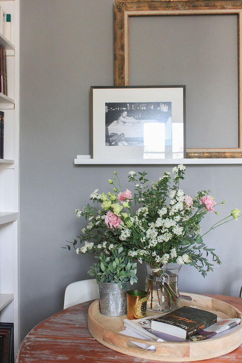 Inspiration mur gris salon
