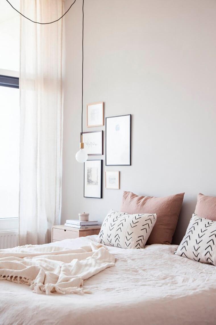 Chambre couleur lin for Decoration chambre adulte couleur lin
