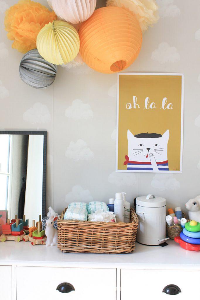 Affiche chambre bébé fille