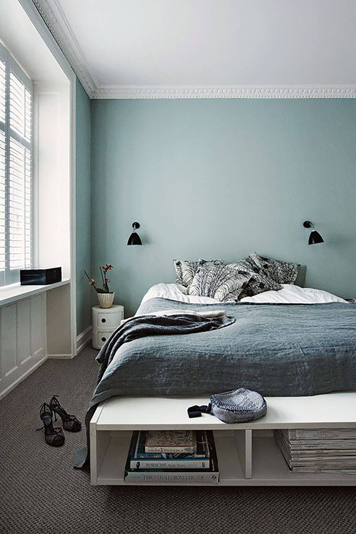 Chambre bleu turquoise