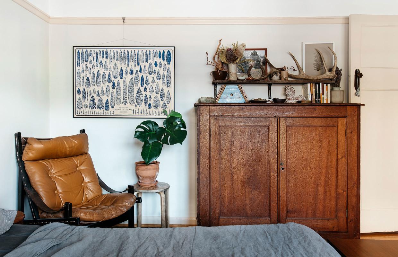 Fauteuil en cuir vintage
