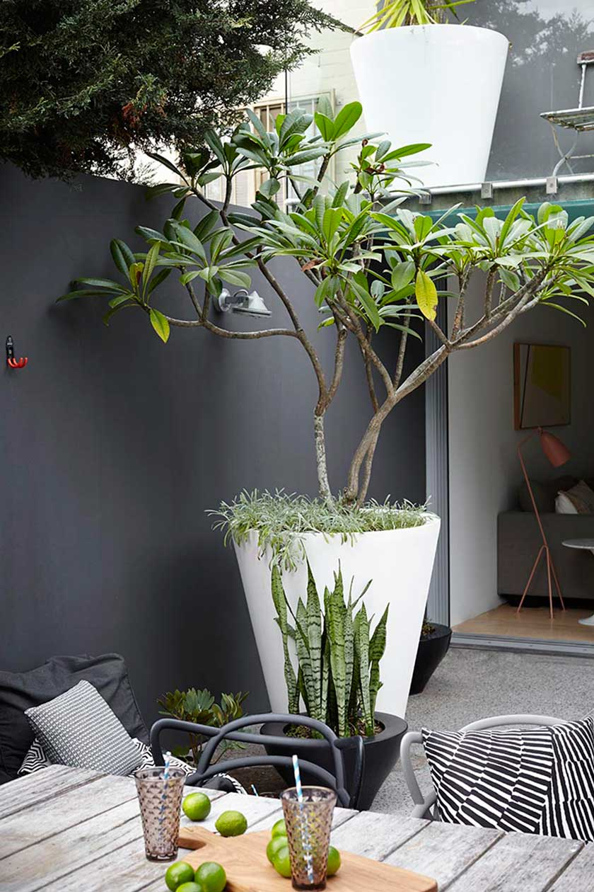 Et si on osait le noir dans nos jardins frenchy fancy for Design balcon exterieur