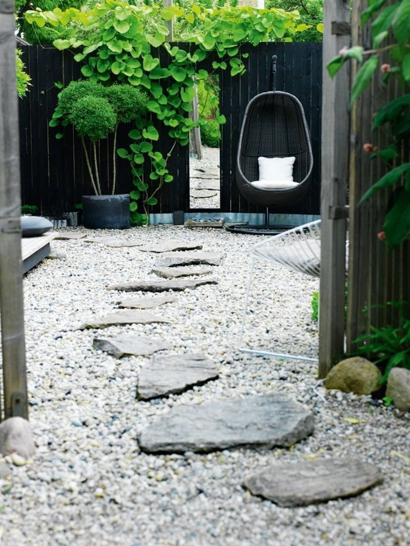 Mur decoration noir outdoor exterieur amenager terrasse for Decoration mur exterieur jardin