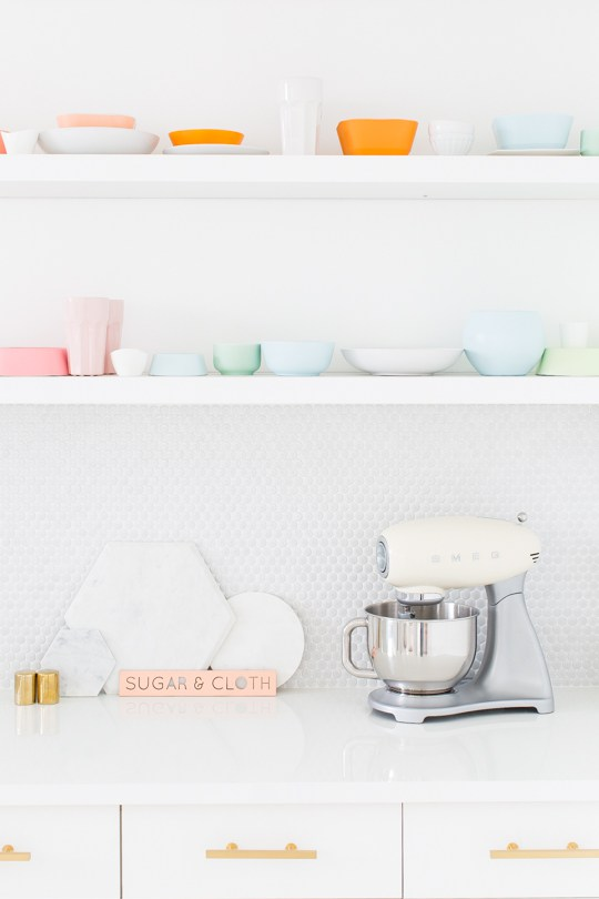 Une cuisine aux couleurs pastel