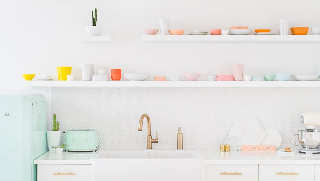 Une cuisine aux couleurs pastel - FrenchyFancy