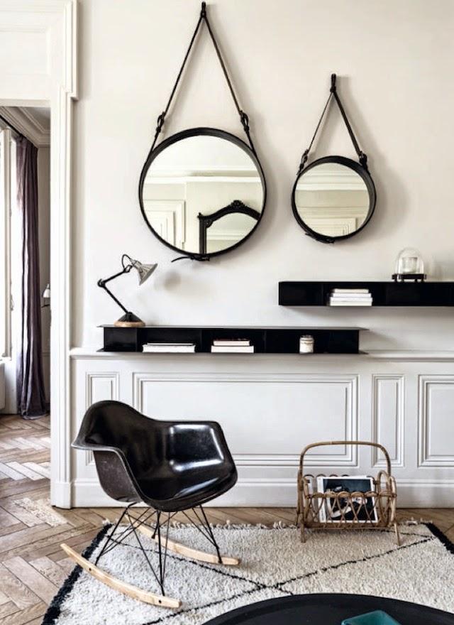 Tapis berbère et fauteuil Eames