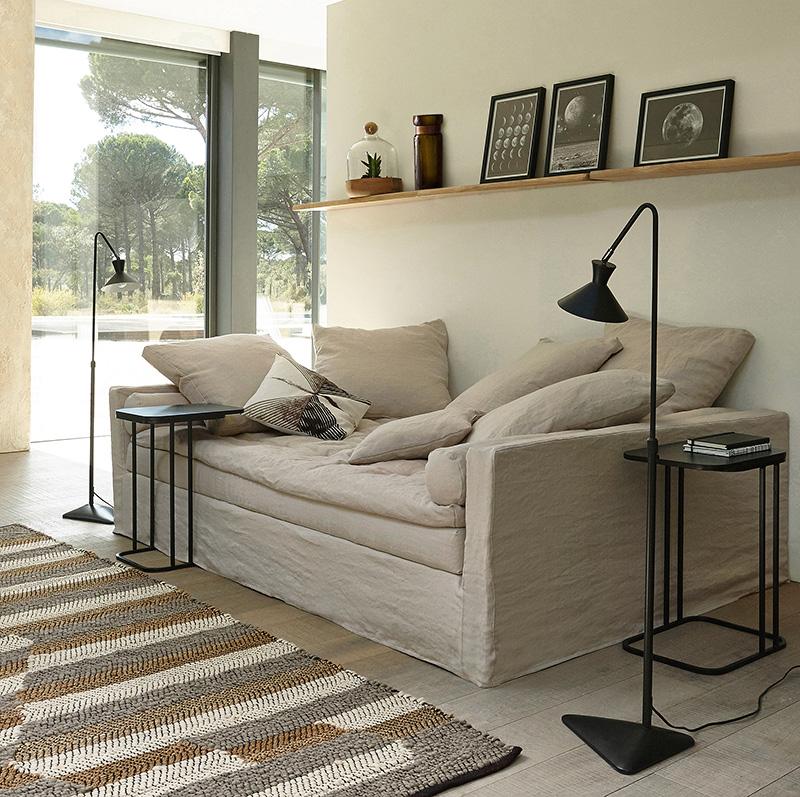 Canapé cosy blanc