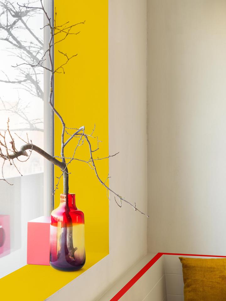 Peindre un mur en jaune