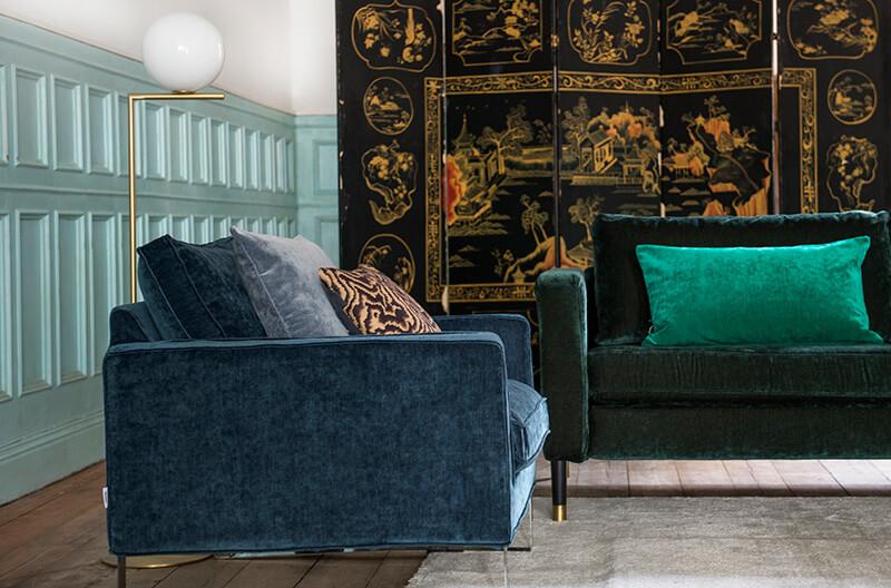 Connu Un canapé en velours pour un salon cosy - Frenchy Fancy SD45