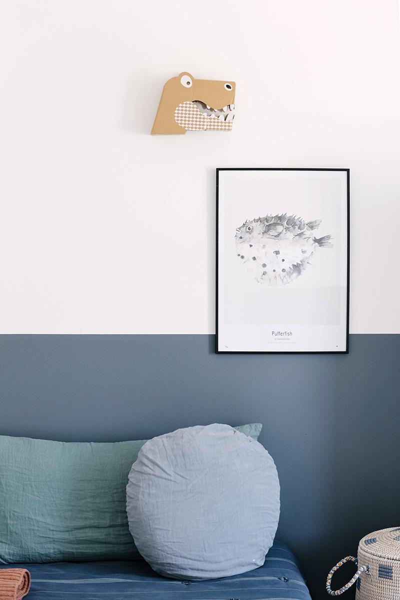 Peinture mur bleu