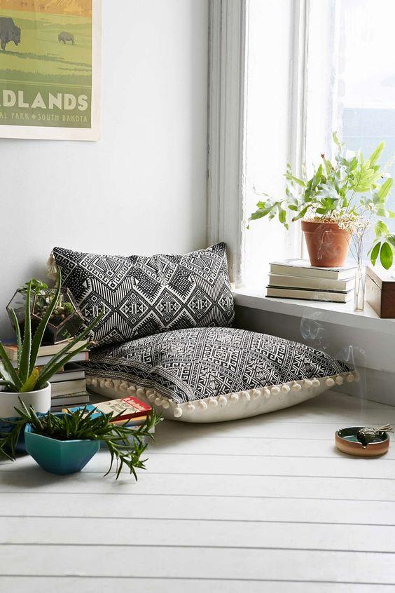 Les coussins de sol en décoration